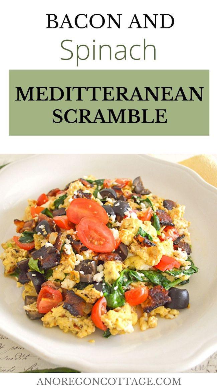 bacon-spinach-Mediterranean-scramble_pin image