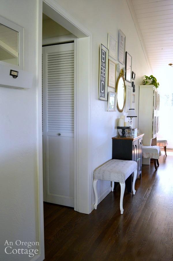 DIY Door Trim-finished door looking from entry