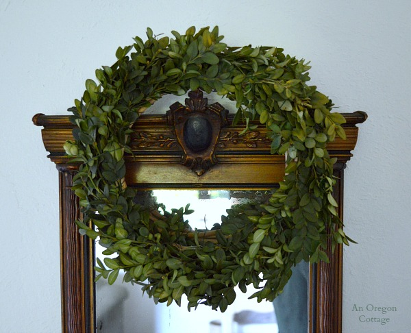 DIY Preserved Boxwood Wreath - An Oregon Cottage