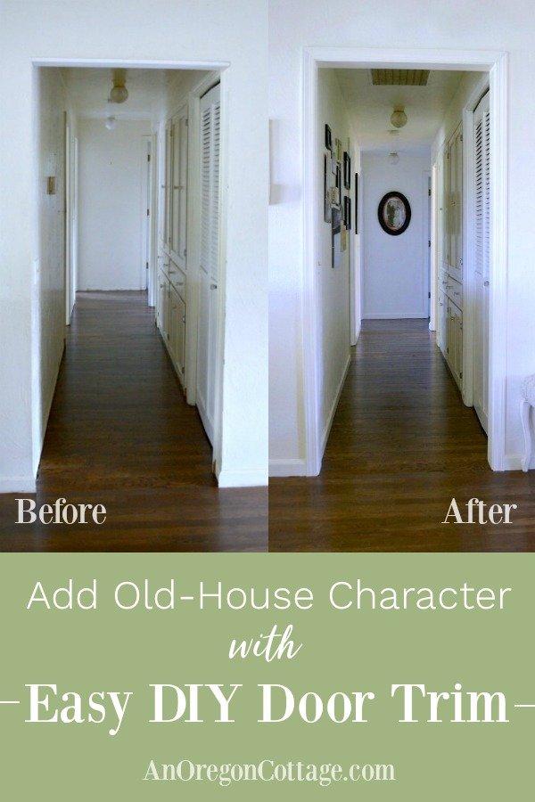 Easy DIY Door Trim before and after