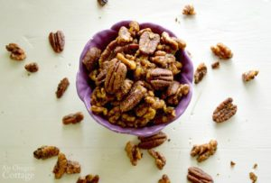 Easy Healthy Spiced Nuts in bowl