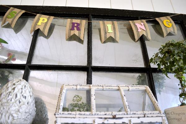 Eclectic Spring Mantel Banner - An Oregon Cottage