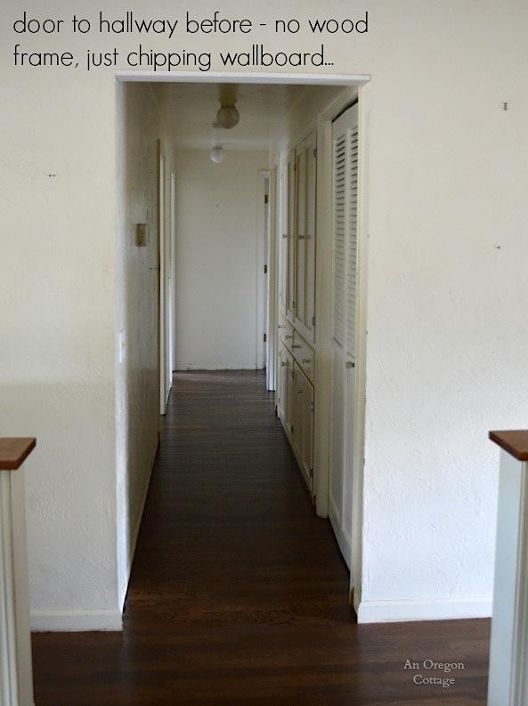 Hallway Door Before - An Oregon Cottage & Add Old-House Character with Easy DIY Door Trim