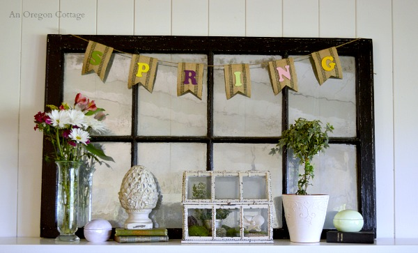 How to Make an Upholstery Webbing Spring Garland - An Oregon Cottage