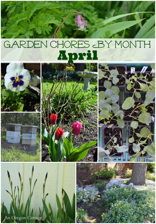 April Garden Chores collage