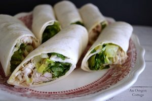 Quick Chicken Caesar Wraps - An Oregon Cottage
