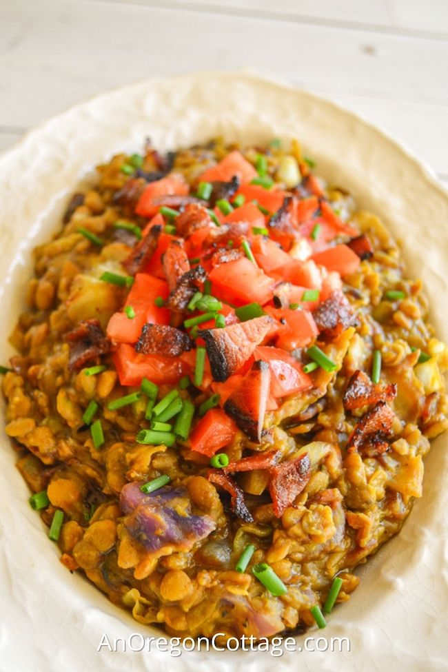 curried lentils in bowl