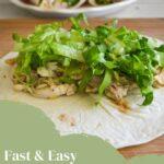 fast-easy chicken caesar wraps