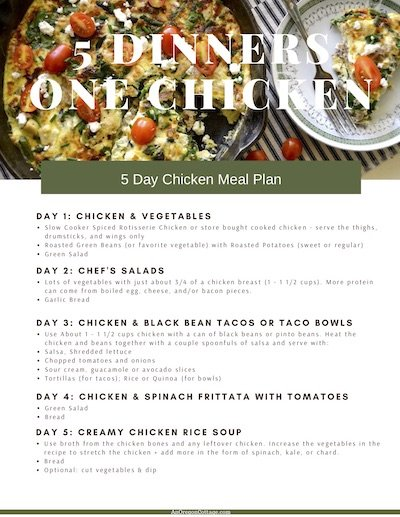 5-day Chicken Meal Plan