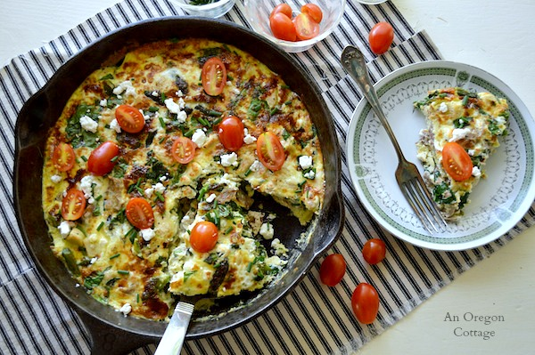 Roasted Potato And Spinach Frittata With Feta Recipes — Dishmaps