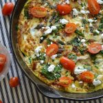 Chicken-Spinach Frittata with Asparagus and Feta - An Oregon Cottage