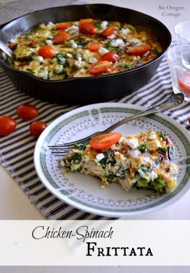 Chicken-Spinach Frittata - An Oregon Cottage