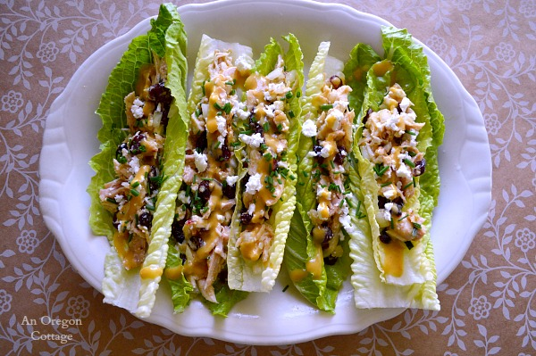 Cranberry Feta Chicken Salad Lettuce Wraps - An Oregon Cottage