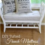 DIY Tufted French Mattress Cushion - An Oregon Cottage