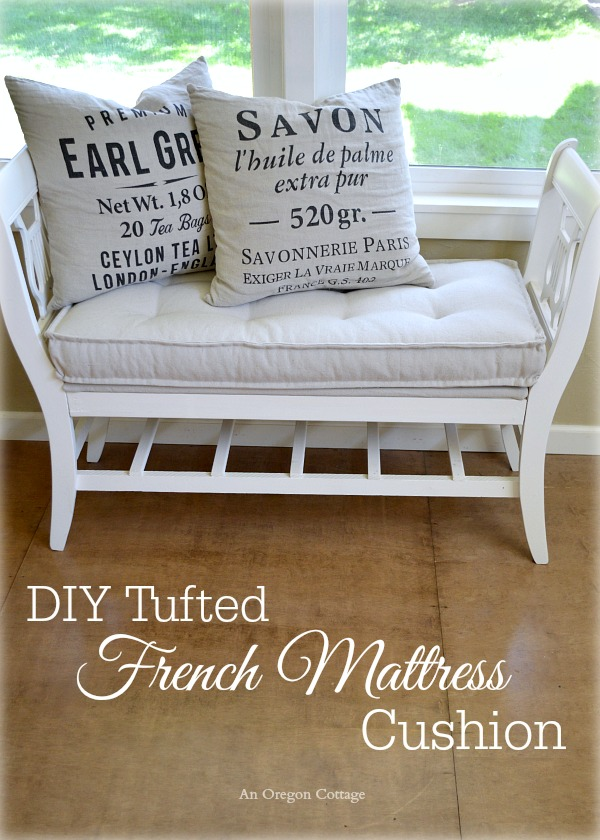 DIY Tufted French Mattress Cushion {Ballard Catalog Knockoff ...