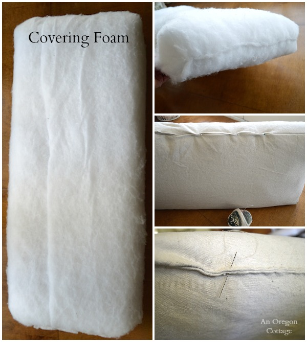 DIY Tufted French Mattress Cushion-Covering Foam - An Oregon Cottage