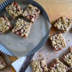 Whole Grain Rhubarb-Honey Crumb Bars - An Oregon Cottage