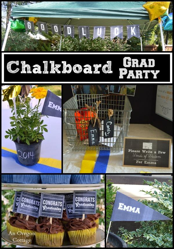 Chalkboard Grad Party - An Oregon Cottage