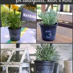 Dollar Store Chalkboard Pots - An Oregon Cottage