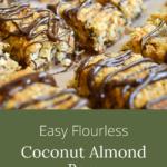 Easy flourless coconut almond bars