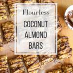 Flourless coconut almond bars