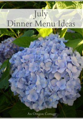 July Dinner Menu Ideas
