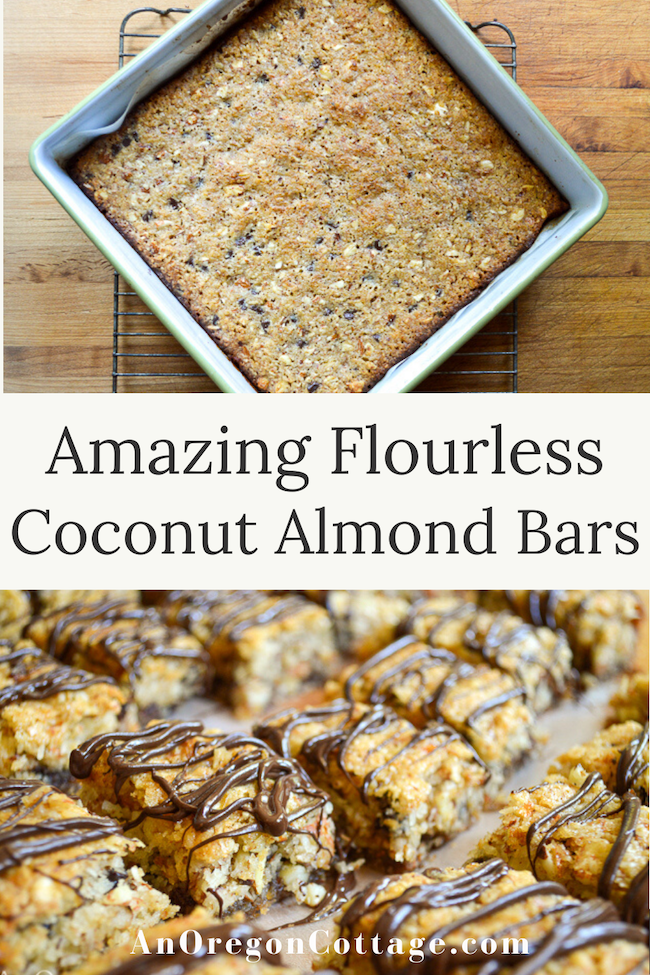 amazing flourless coconut almond bars