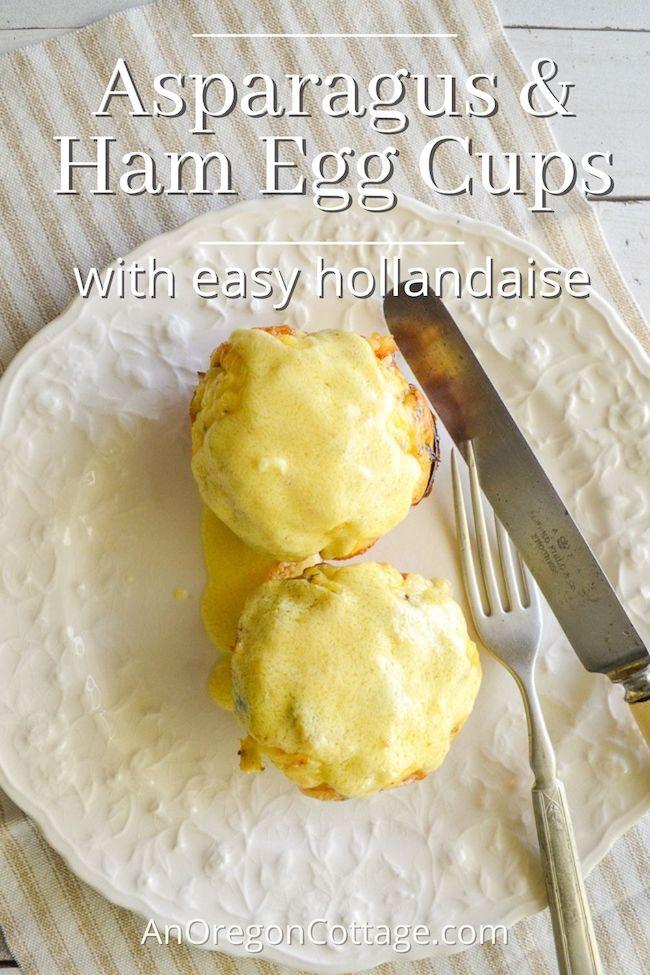 asparagus-ham egg cups-hollandaise above