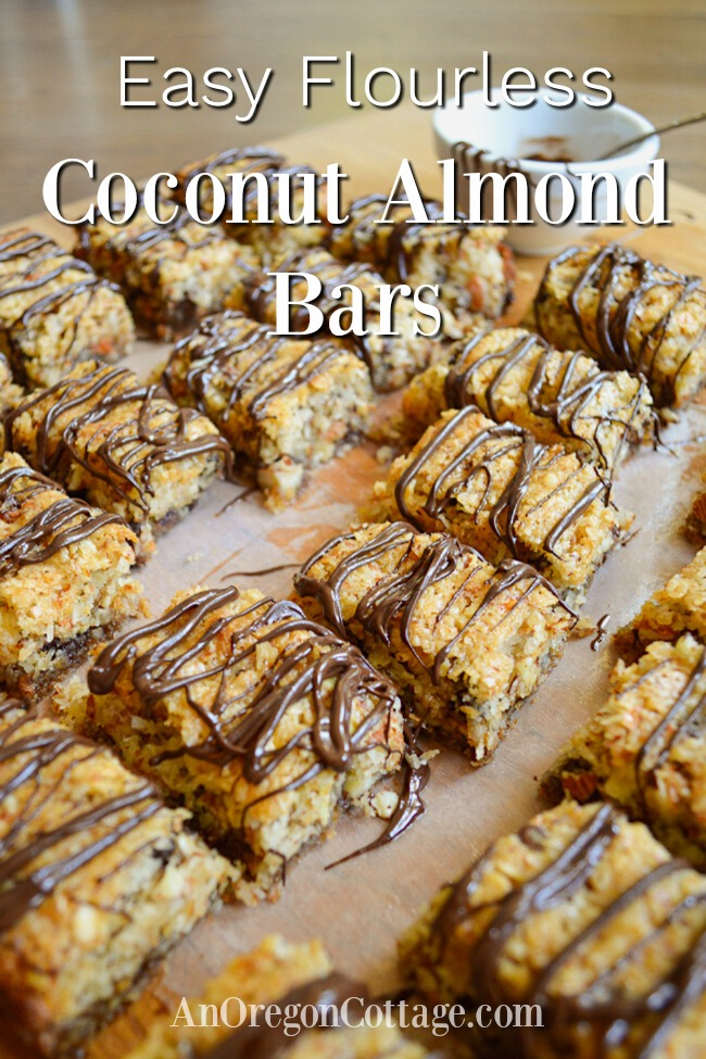 easy flourless coconut almond bars