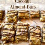 gluten free coconut almond bar cookies