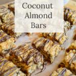 gluten free coconut almond bars cut