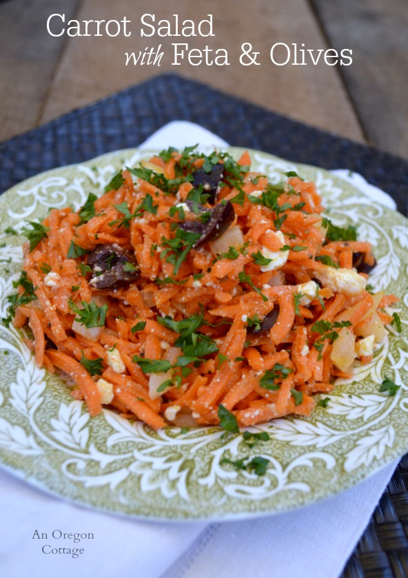 Carrot Salad with Feta and Olives - An Oregon Cottage