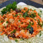 Carrot Salad with feta close