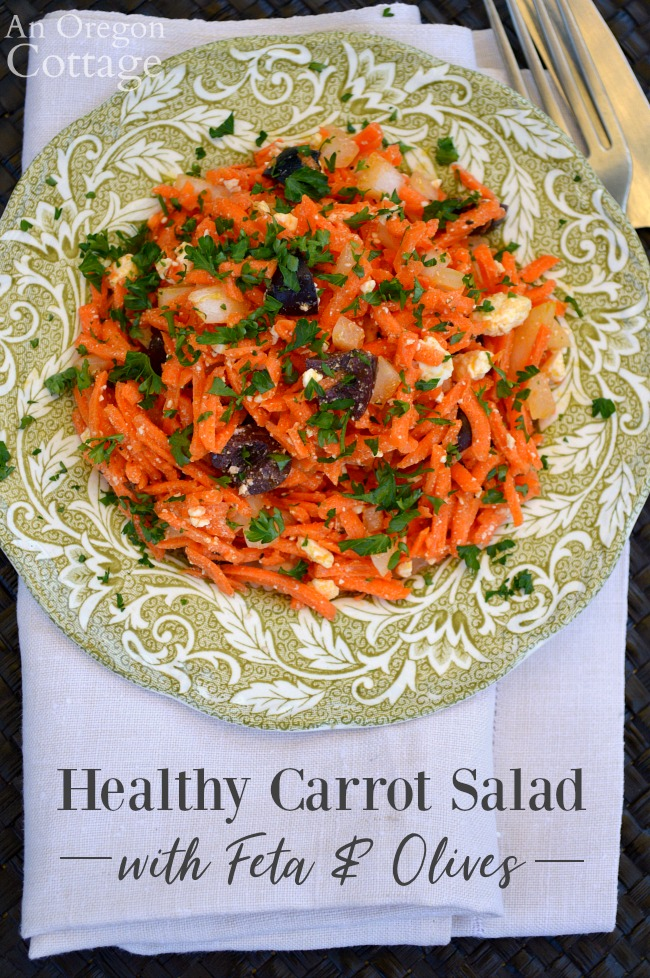 Healthy Carrot Salad with Feta pin image