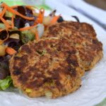 Healthy Salmon Patties with Flax