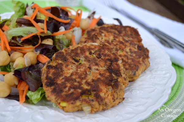 Healthy Salmon Patties with Flax - An Oregon Cottage