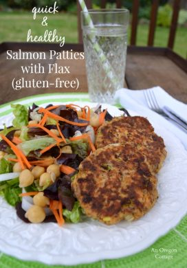 Quick and Healthy Salmon Patties with Flax pin