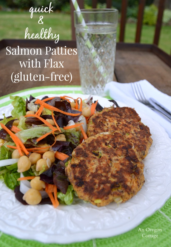 Quick and Healthy Salmon Patties with Flax - An Oregon Cottage