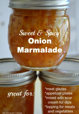 Sweet and Spicy Canned Onion Marmalade pin