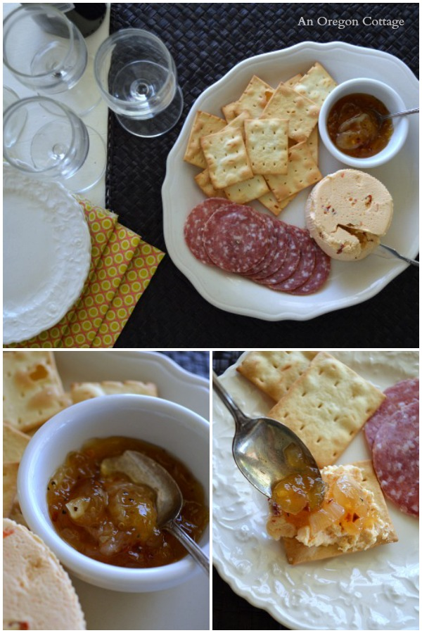 Sweet and Spicy Onion Marmalade Appetizer Plate