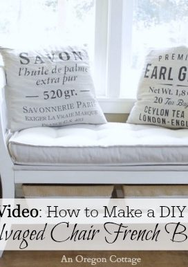 DIY Salvaged Chair French Bench: Video & Old House Journal Feature!