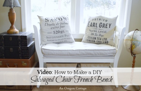 on how to make a diy salvaged chair french bench an oregon cottage