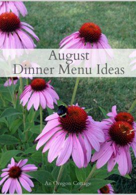 August Dinner Menu Ideas