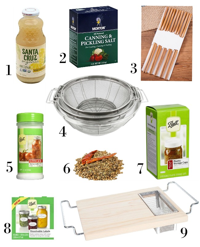 Easy Canning supplies-food and nice to have items
