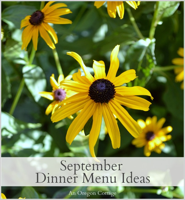 September Dinner Menu Ideas
