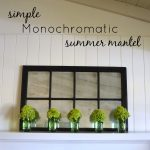 Simple Monochromatic Hydrangea Summer Mantel - An Oregon Cottage