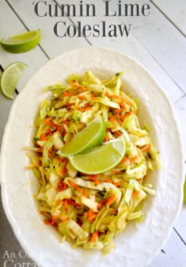 Spicy Cumin Lime Coleslaw in bowl