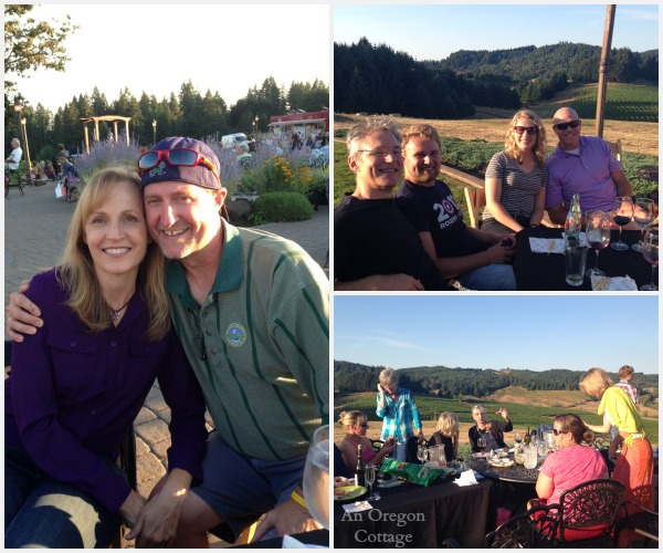 Sweet Cheeks Winery Evening - An Oregon Cottage
