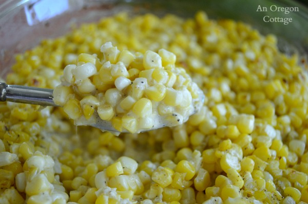 Creamy Fresh Baked Corn is my favorite way to eat fresh corn! An Oregon Cottage