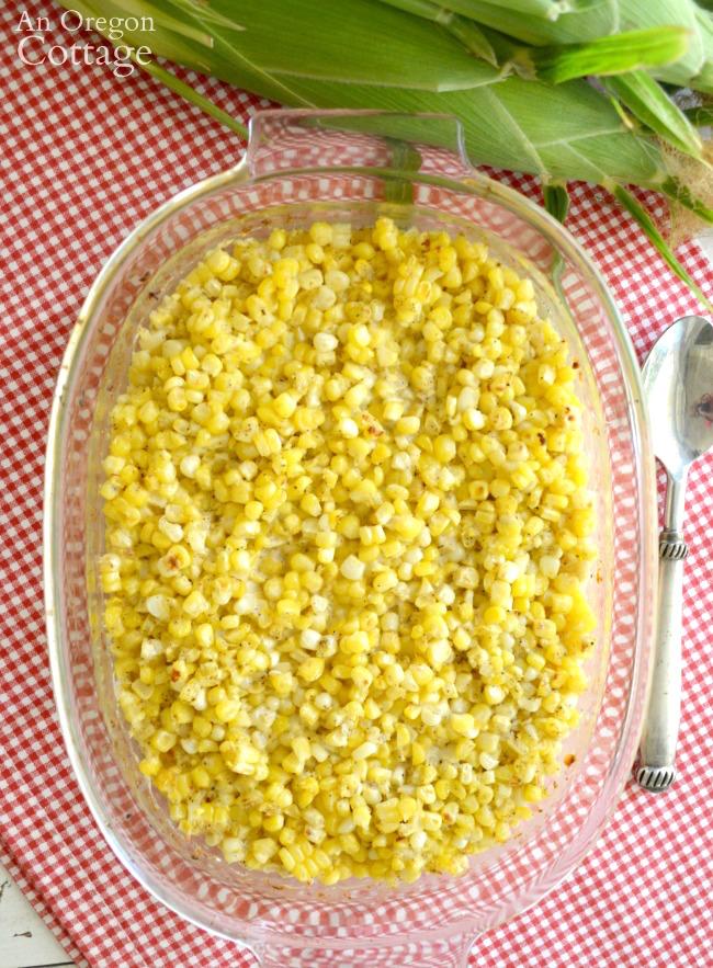 Corn Bake Casserole in baking dish